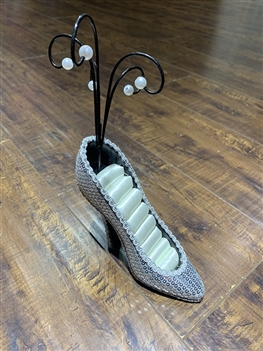 High Heel SHOES Display W1087 - White(ADDITIONAL $1 SHIPPING COST)