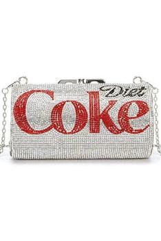 Coke Bottle Rhinestone HANDBAGs HB1116 - Silver
